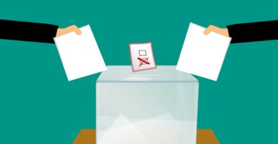 Placing Ballots in a Ballot Box