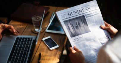 Reading Newspaper