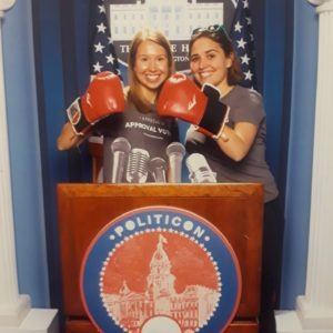 Caitlyn and Kirsten at Politicon