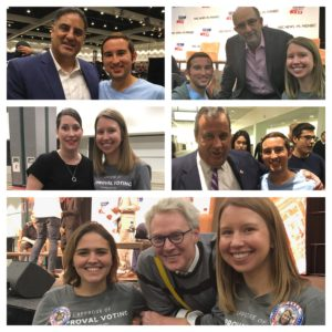 Center for Election Science Staff with Celebrities at Politicon
